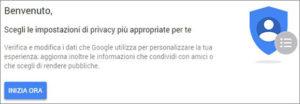 controllare la privacy dell'account google