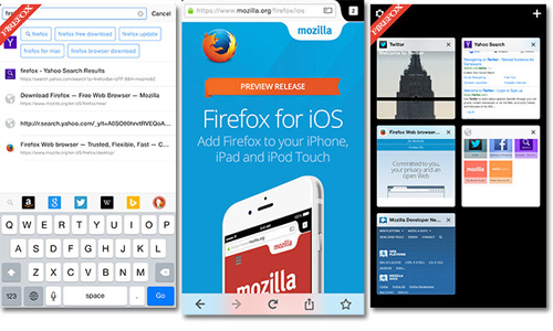 Utilizzare Firefox su iPhone