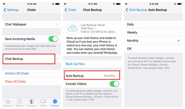 salvare messaggi whatsapp con iphone