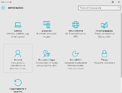 disinstallare applicazioni windows 10