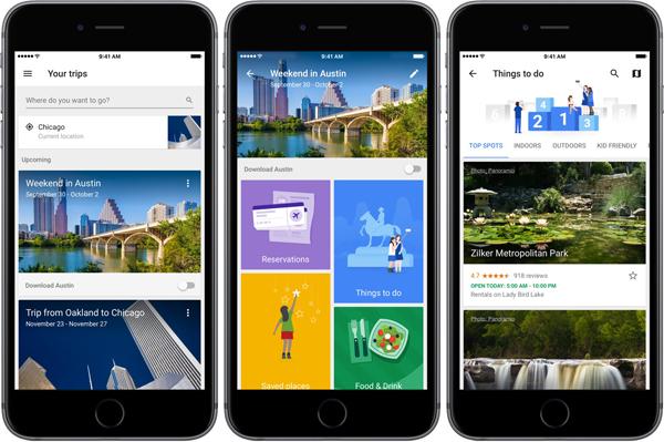 Google Trips, l'app per viaggiare