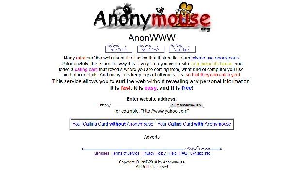 evitare blocco dei siti con anonymouse