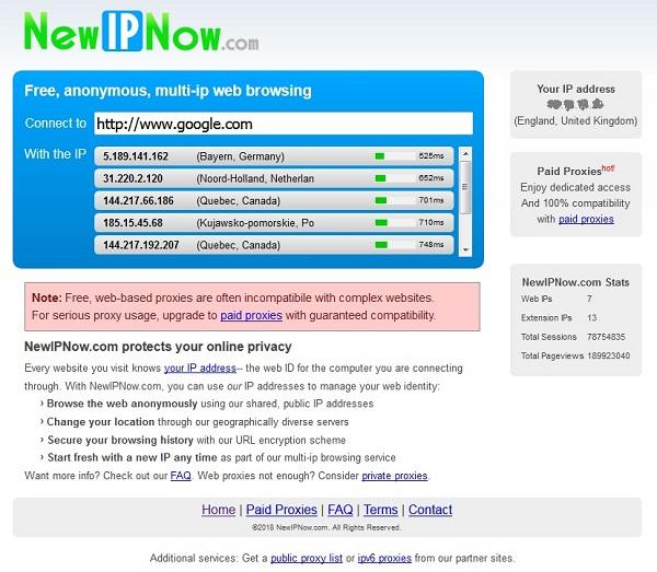 evitare blocco dei siti con newipnow