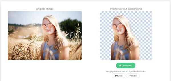 rimuovere sfondi foto con remove image background