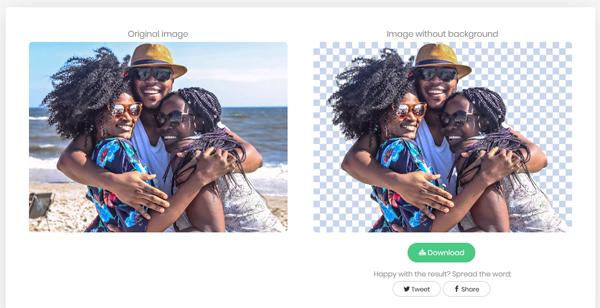 cancellare parti di foto con remove image background