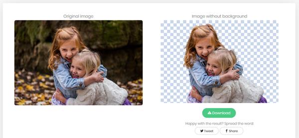 eliminare sfondo foto con remove.bg