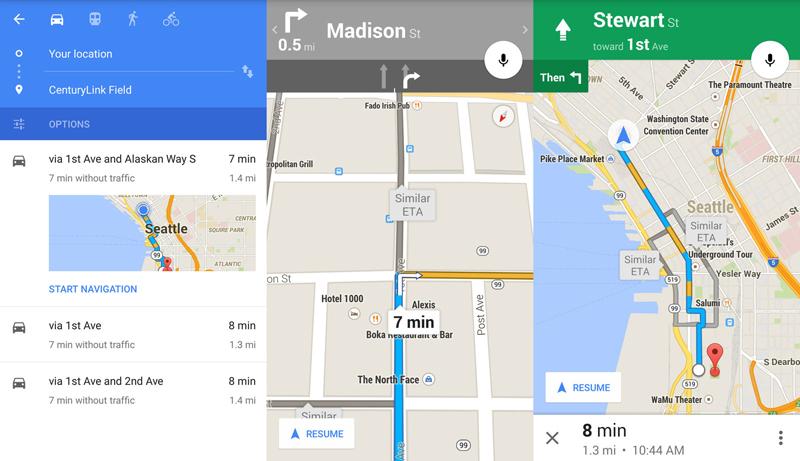 navigare con Google Maps