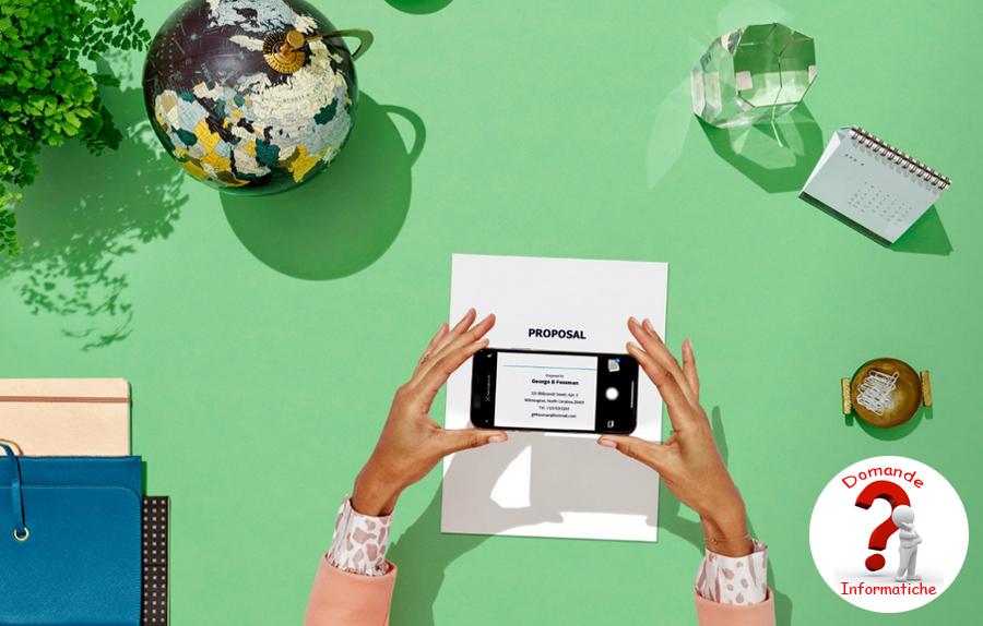 Usare lo smartphone come scanner