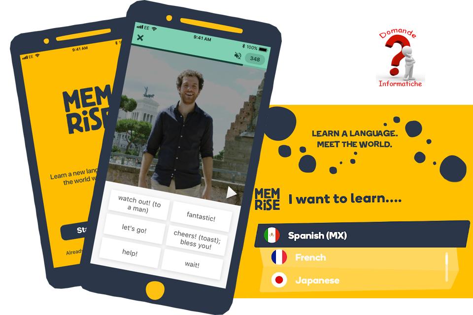 Imparare le lingue con Memrise