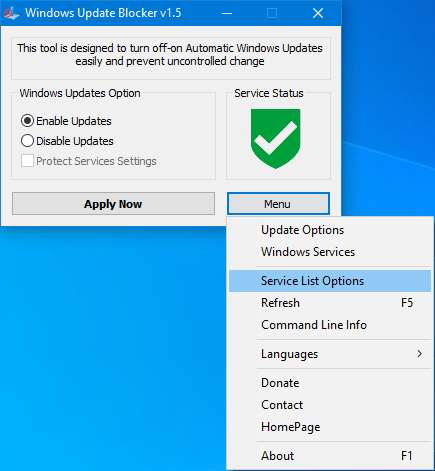 bloccare aggiornamenti automatici con windows update blocker