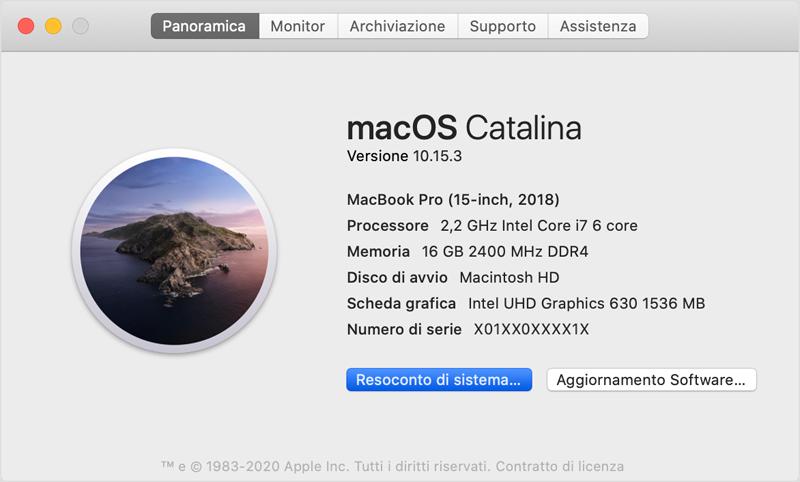 controllare stato hard disk Mac